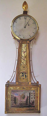 Rare gilt front patent timepiece by Munroe and Whiting. Concord, Massachusetts