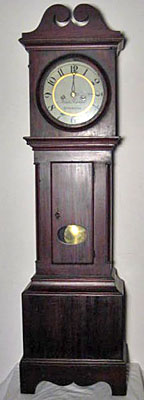 Pine and cherry Chippendale dwarf clock, circa 1790-1815